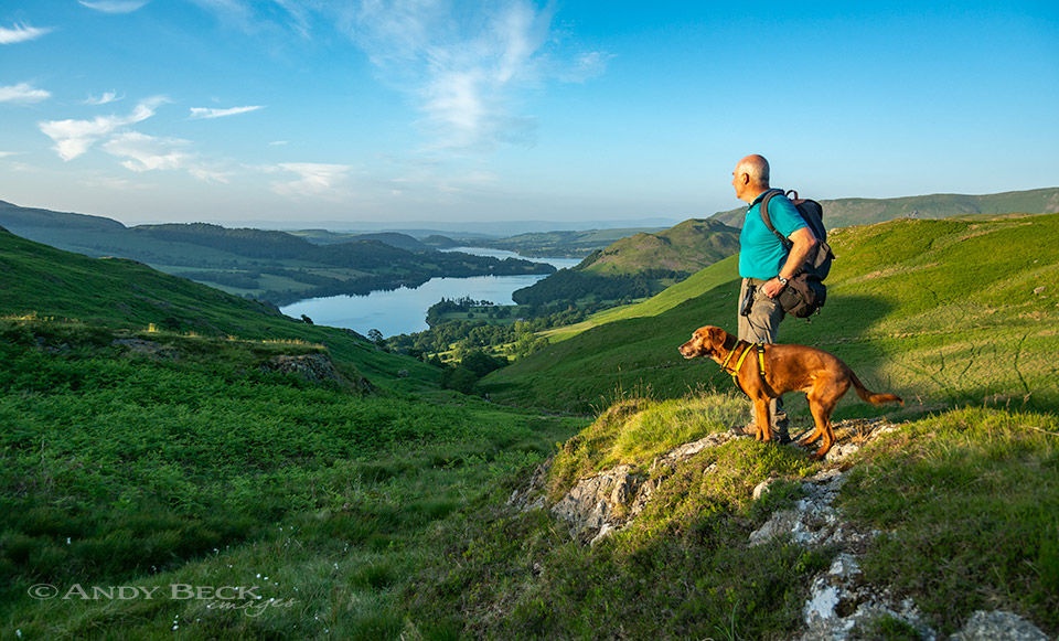 Andy Beck above Ullswater