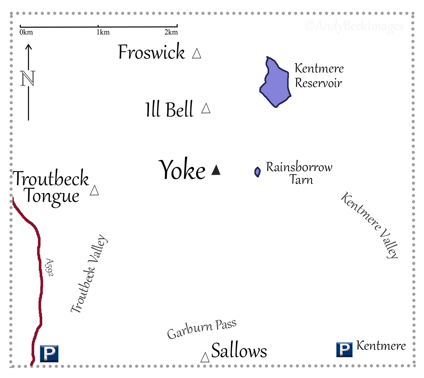 Yoke location map