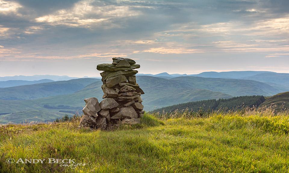 Mabbin Crag summit cairn