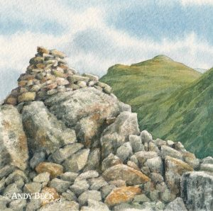 Allen Crags summit watercolour